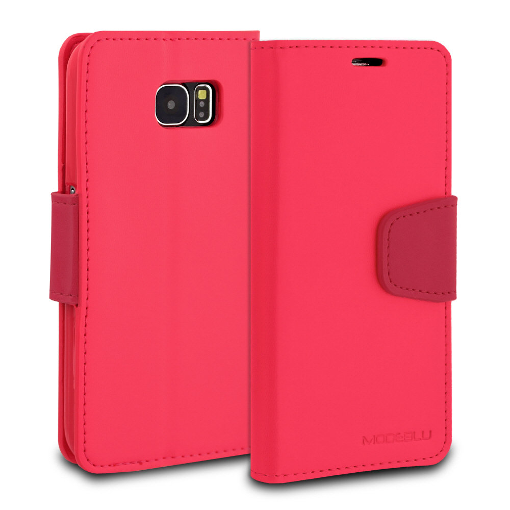 OEM SAMSUNG GALAXY S7 MODEBLU CLASSIC DIARY WALLET CASE - HOT PINK