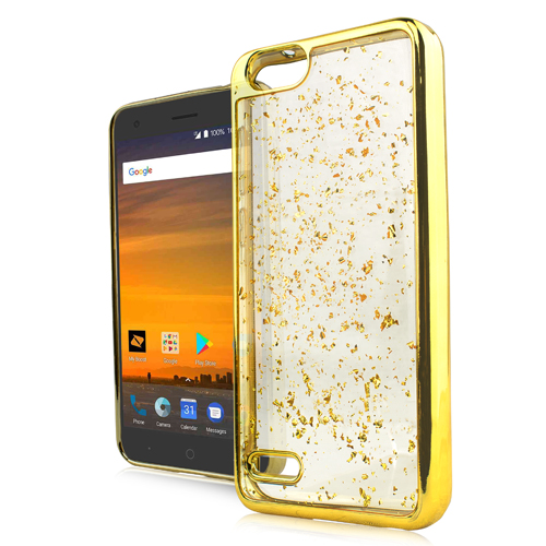 ZTE TEMPO X / AVID 4 CHROME FLAKE CASE - GOLD
