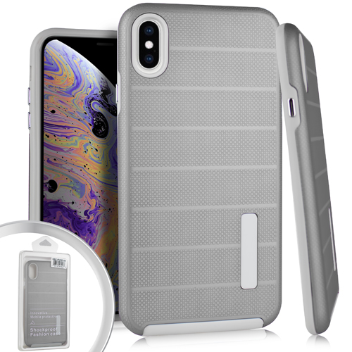(em) iphone xs max delux brushed - silver (retail packed)