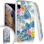 (E01) IPHONE X/XS FLOWER SPOT DIAMOND - HAWAII FLORAL (RETAIL PACKED)