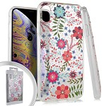 (E01) IPHONE X/XS FLOWER SPOT DIAMOND - MULTI COLOR DAISIES (RETAIL PACKED)