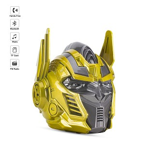 (01-KH) OPTIMUS PRIME HEAD BLUETOOTH SPEAKER - GOLD