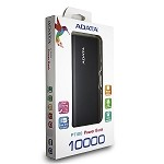 ADATA PT100 POWER BANK 10,000 MAH - BLACK & GREEN