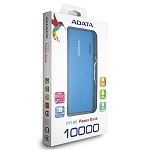 ADATA PT100 POWER BANK 10,000 MAH - BLUE & WHITE