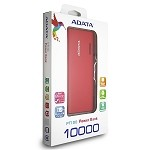 ADATA PT100 POWER BANK 10,000 MAH - RED & ORANGE