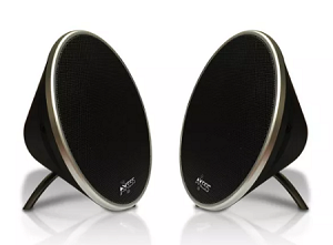 (1-SR) AXESS 4401 TWIN BLUETOOTH CONE SPEAKERS - BLACK