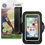 (1-SR) BELKIN SPORT-FIT PLUS ARMBAND (RETAIL PACKED) - BLACK/GREEN (RETAIL PACKED)