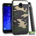 (E01) SAMSUNG GALAXY J7 (2018) BLADE CASE WITH METAL BACK FOR MAGNETIC HOLDER - GREEN CAMO