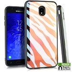 (E01) SAMSUNG GALAXY J7 (2018) IRIDESCENT CASE WITH METAL BACK FOR MAGNETIC HOLDER - ZEBRA