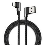 MCDODO 90? LIGHTNING TO REVERSIBLE USB CHARGING DATA CABLE - SILVER