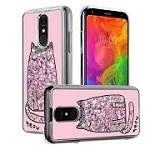 (P01) LG STYLO 4 / 4 PLUS ART MILKYWAY CASE - CAT PINK (RETAIL PACKED)