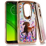 (E01) MOTO G7 PLAY CHROME GLITTER MOTION IMAGE - UNICORN