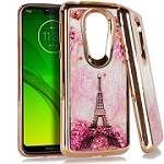 (E01) MOTO G7 PLAY CHROME GLITTER MOTION IMAGE - EIFFEL TOWER
