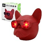 (01-KH) CH-M16 DOG HEAD (LARGE) BLUETOOTH SPEAKER - RED