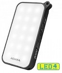 (1-WH) ADATA LED POWER BANK 8000 mAh(DUST & WATER RESISTANCE) - BLACK