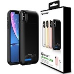 (1-E02) ESOULK EP17P MAGNET POWER CASE FOR IPHONE XS MAX 5000MAH - BLACK