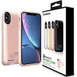 (1-E02) ESOULK EP17P MAGNET POWER CASE FOR IPHONE XS MAX 5000MAH - ROSE GOLD