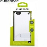 (1-SR) IPHONE 6S PLUS PUREGEAR SLIM SHELL w/ KICKSTAND - WHITE (RETAIL PACKED)