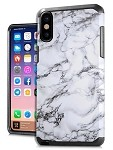 (E01) IPHONE X/XS DUO HYBRID IMAGE - MARBLE