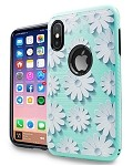 (1-CO) IPHONE X/XS BRUSHED METAL IMAGE - DAISY TEAL