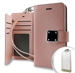 (E01) IPHONE X/XS DELUXE WALLET - ROSE GOLD (RETAIL PACKED)