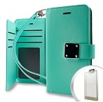 (1-CO) IPHONE X/XS DELUXE WALLET - TEAL (RETAIL PACKED)