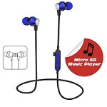 (1-WH) BLUETOOTH WIRELESS HEADPHONE WITH MICRO SD CARD SLOT - BLUE