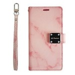 (P01) SAMSUNG GALAXY J7 (2018) MARBLE WALLET - PINK (RETAIL PACKED)