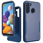 (01-NEW) SAMSUNG A21 COMMANDER CASE - BLUE/BLUE