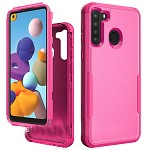 (01-NEW) SAMSUNG A21 COMMANDER CASE - HOT PINK/HOT PINK