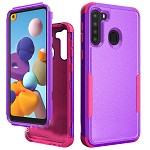 (01-NEW) SAMSUNG A21 COMMANDER CASE - PURPLE/HOT PINK