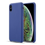 (D01) IPHONE XS MAX THE SIMPLEMADE LIQUID SILICONE BACK COVER CASE - COBALT BLUE