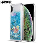 (D01) IPHONE XS MAX LUXMO PREMIUM WATERFALL SERIES FUSION LIQUID SPARKLING QUICKSAND CASE - DRIFTING BOTTLE