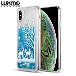 (D01) IPHONE XS MAX LUXMO PREMIUM WATERFALL SERIES FUSION LIQUID SPARKLING QUICKSAND CASE - OH DEER