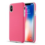 (D01) IPHONE XS MAX EZPRESS ANTI-SLIP HYBRID CASE - HOT PINK
