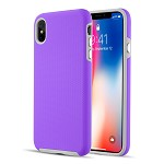 (D01) IPHONE XS MAX EZPRESS ANTI-SLIP HYBRID CASE - PURPLE