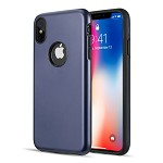 (D01) IPHONE XS MAX PATROL DUAL HYBRID PROTECTION CASE - NAVY BLUE