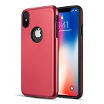 (D01) IPHONE XS MAX PATROL DUAL HYBRID PROTECTION CASE - RED