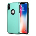 (D01) IPHONE XS MAX PATROL DUAL HYBRID PROTECTION CASE - TEAL