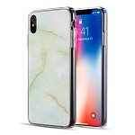 (D01) IPHONE XS MAX SPARKLING MARBLE SERIES IMD SOFT TPU CASE - GREEN