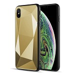 (D01) IPHONE X/XS THE DIAMOND CUT FUSION CANDY CASE - GOLD (BUY 5 GET 3 FREE)