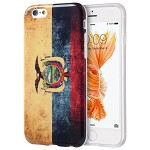 (D01) IPHONE 6 / 6S PATRIOTIC VINTAGE FLAG SERIES IMD TPU CASE - ECUADOR