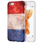 (D01) IPHONE 6 / 6S PATRIOTIC VINTAGE FLAG SERIES IMD TPU CASE - FRANCE