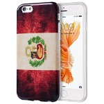 (D01) IPHONE 6 / 6S PATRIOTIC VINTAGE FLAG SERIES IMD TPU CASE - PERU