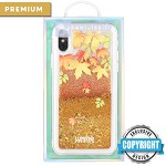 (1-DW) IPHONE X/XS LUXMO PREMIUM WATERFALL SERIES FUSION LIQUID SPARKLING QUICKSAND CASE - SHADES OF AUTUMN (RETAIL PACKED)