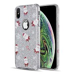 (D01) IPHONE X/XS THE STARRY DAZZLE LUXURY TPU COVER CASE - SANTA CLAUS (BUY 5 GET 3 FREE)
