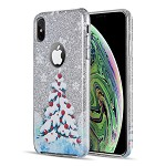 (D01) IPHONE X/XS THE STARRY DAZZLE LUXURY TPU COVER CASE - XMAS TREE (BUY 5 GET 3 FREE)