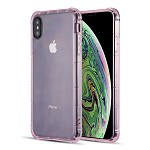 (D01) IPHONE XS MAX DURAPROOF TRANSPARENT ANTI-SHOCK TPU CASE - PINK
