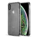 (D01) IPHONE XS MAX DURAPROOF TRANSPARENT ANTI-SHOCK TPU CASE - SMOKE