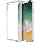 (D01) IPHONE X/XS THE FUSION CANDY TPU WITH CLEAR ACRYLIC BACK CASE - CLEAR